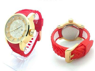 Relógio Invicta Yakuza Vermelho Com Caixa da Marca