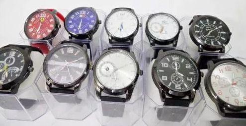 Kit 20 Relógios Masculinos Mult Marcas No Atacado
