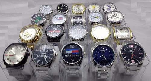 Kit 12 Relógios Masculinos Várias Marcas Replicas Com Caixa