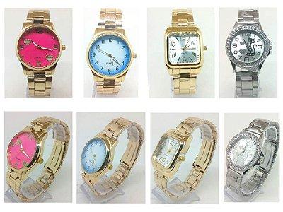 Kit 10 Relógios Femininos Em Aço No Atacado