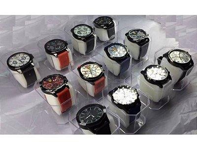 Kit 06 Relógios Masculinos Pulseira Silicone Atacado