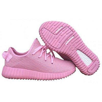 Tênis Adidas Yeezy Boost 350 - Feminino - Rosa