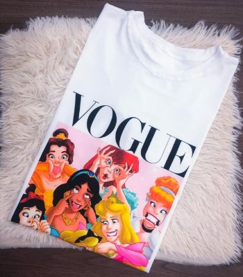 T-SHIRTS FEMININA SUPLEX OFF VOGUE PRINCESAS