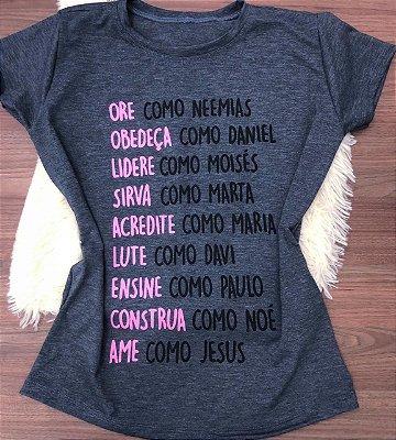 T-SHIRTS FEMININA VISCOLYCRA CHUMBO ORE