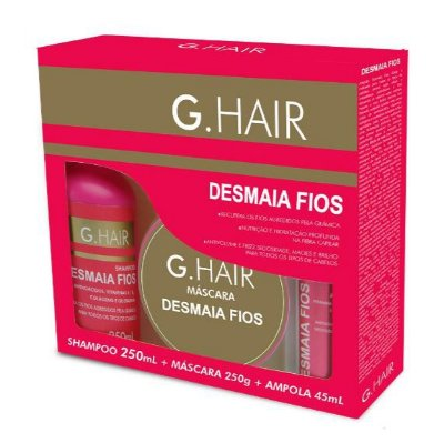 G.Hair Kit Desmaia Fios Shampoo, Máscara e Ampola