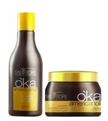 Salvatore Kit Oka Americanoil Shampoo 300ml e Máscara 250ml- Fab Salvatore Cosmeticos