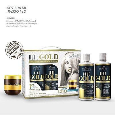 Kit Blue Gold 500ml- Lançamento 2018 - 10 Anos