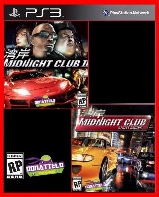 Midnight Club 1 e 2 ps3
