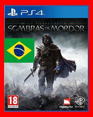Terra Media Sombras de Mordor Dublado PS4