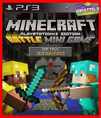 Passe de temporada do pacote de mapas de batalha Minecraft Playstation 3