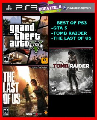 the Last Of Us, Gta 5 E Tomb Raider The Best Of Ps3 PSN - Melhores jogos para PS3