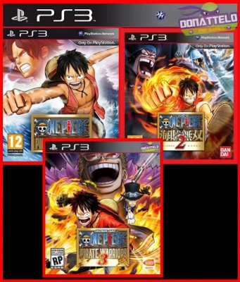 Coleção One Piece Pirate Warriors 1, 2, 3 ps3