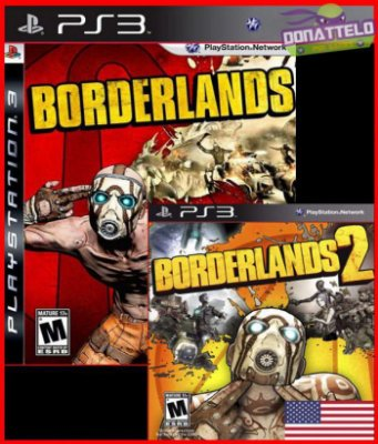 Borderlands 1 e Borderlands 2  ps3