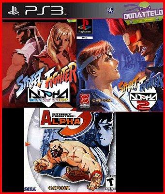 Coleção Street Fighter Alpha  1 2 e 3 PS3