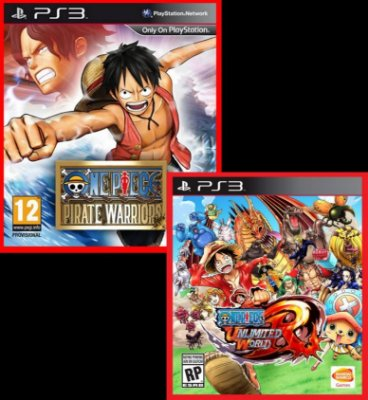 Combo One Piece - Pirate Warriors 1 e Unlimited World Red ps3