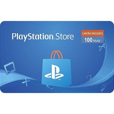 Gift Card Digital Playstation Store R$ 100 -  Cartão Psn 100 (somente depósito, transferencia ou boleto)