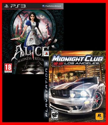 Combo: Midnight Club Los Angeles e Alice Madness Returns ps3