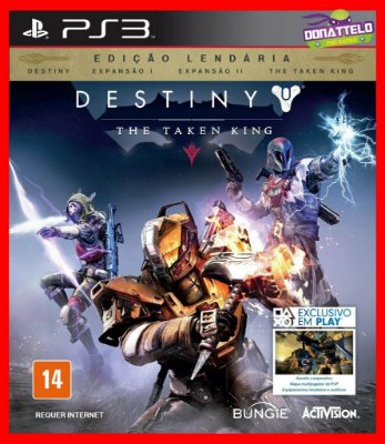 Destiny Legendary Edition - The Taken King ps3 + Dark Below, House of Wolves e The Taken King