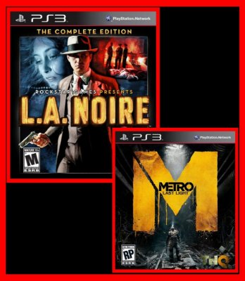 Combo  LA NOIRE complete edition  e METRO LAST LIGHT ps3