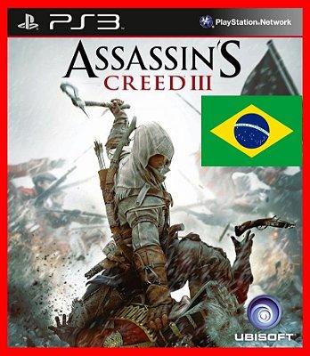 Assassins Creed III ps3 - AC3 100% portugues br