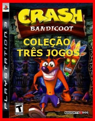 Crash Bandicoot Collection ps3 - Três jogos