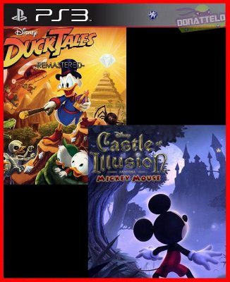 Mickey Castle of Illusion e Ducktales Remastered ps3