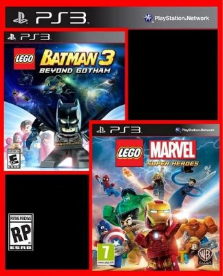 Combo Lego - Batman 3 Beyond Gotham e Marvel Super Heroes ps3