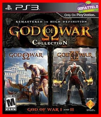 God of War Collection ps3 - GOW 1 e 2