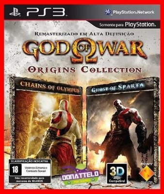 God of War Origins Collection - GOW Chain of Olympus e Ghost of Sparta