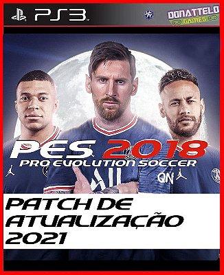 Patch para o jogo PES 2018 de PS3 (NÃO É O JOGO - Atualização 2021) Messi no PSG