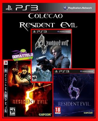 Coleção Resident Evil - Resident Evil 4, 5 e 6