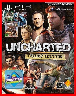 Coleção Uncharted - Uncharted 1, 2 e 3