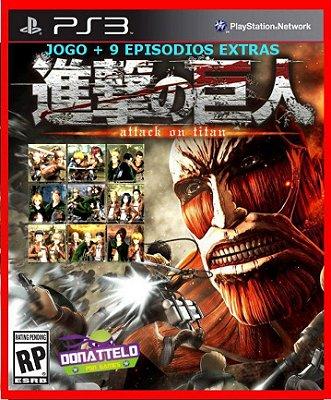 Attack on Titan Wings of Freedom + Episodios PS3 - Shingeki no Kyojin (jogo+dlc)