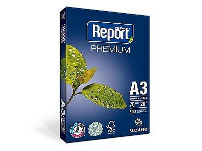 Suzano Report® Premium A3 - 75g - CAIXA com 5 Pacotes