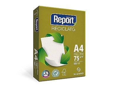 Suzano Report® Reciclato® A4 - 75g - CAIXA com 5 Pacotes