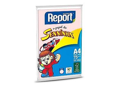 Suzano Report® Senninha© Colorido Rosa A4 - 75g - CAIXA com 25 Pacotes