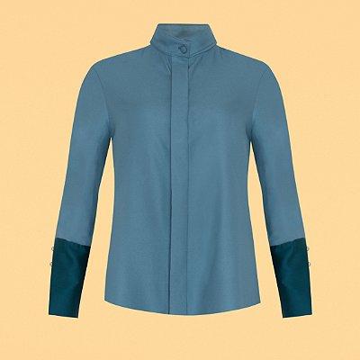 Camisa Abotoadura Azul Nuvem