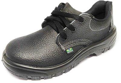 Sapato de Segurança de Couro com Biqueira de Aço