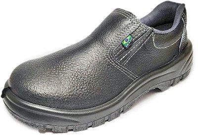 Sapato de Segurança de Couro e Elástico com Biqueira de Aço