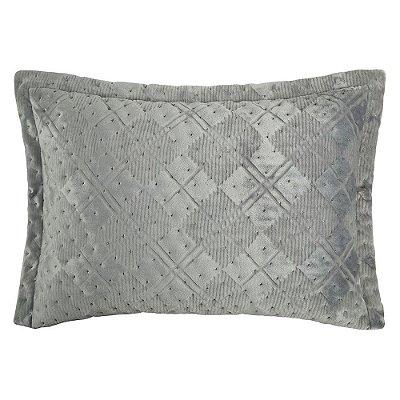 Porta Travesseiro Plush Premium Elegance - Beton Chess - Altenburg