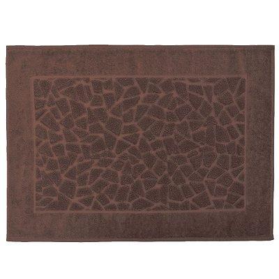 Toalha para Piso Felpudo Jacquard Confort Mosaico - Marron 11587 - Döhler