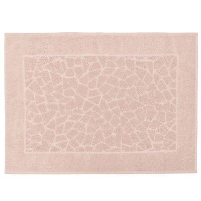 Toalha para Piso Felpudo Jacquard Confort Mosaico - Rosa 10501 - Döhler