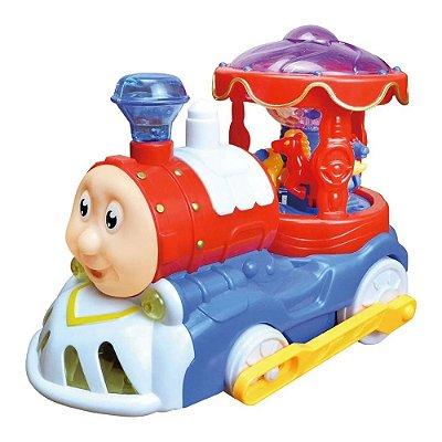 Trem Carrossel Bate e Volta - DM Toys