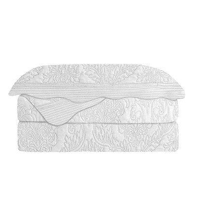 Kit Colcha Antique Branco Solteiro - Camesa