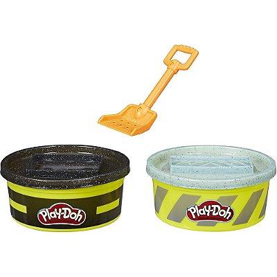 Conjunto Play-Doh Wheels Massa de Contrução - Asfalto - Hasbro