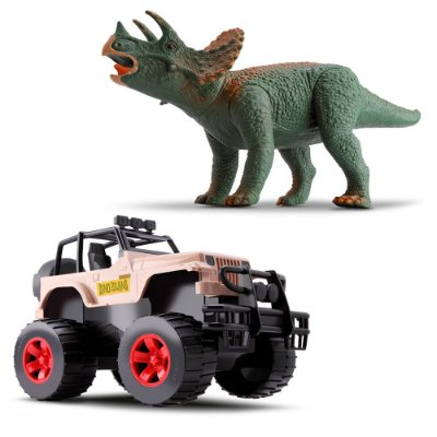 Dino Island Adventure - Jipe e Triceratops - Silmar