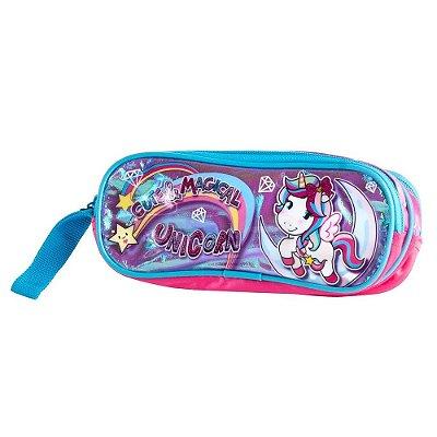 Estojo Duplo Unicorn Cute & Magical - Rosa - Clio Style