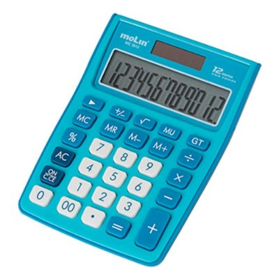 Calculadora de Mesa Azul MC 3812 - 12 Dígitos - Molin