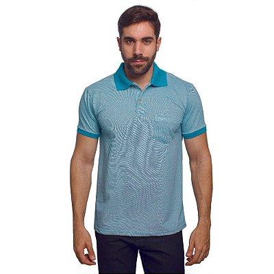 Camisa Polo Masculina Piquet Mescla - Azul - Wayna