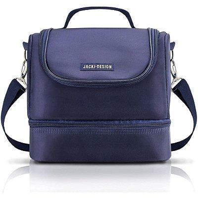 Bolsa Térmica com 2 Compartimentos - Azul - Jacki Design